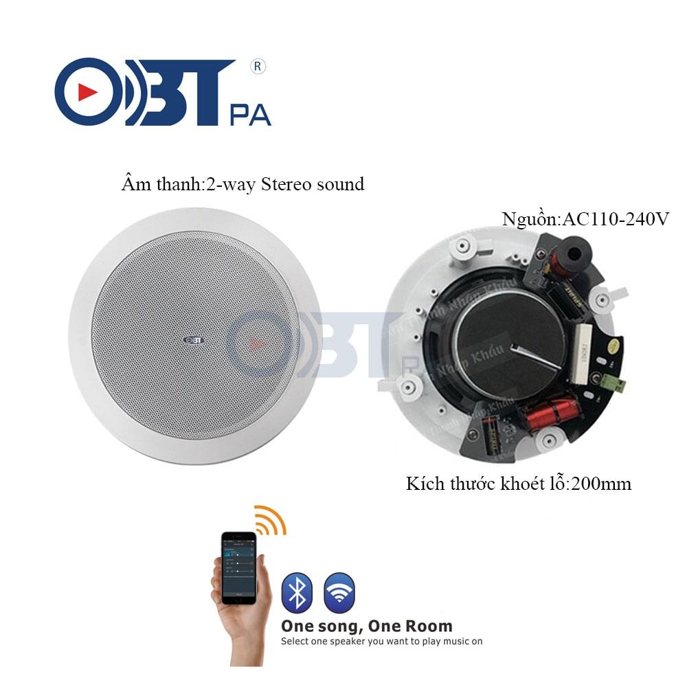 Bộ loa âm trần wifi OBT WF2