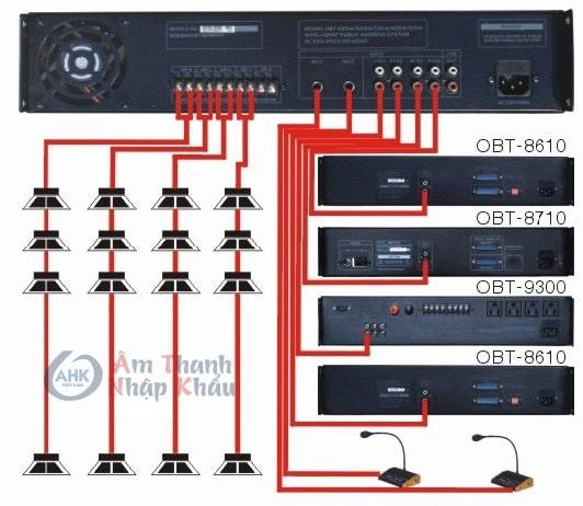 Sơ đồ kết nối amply OBT 6254