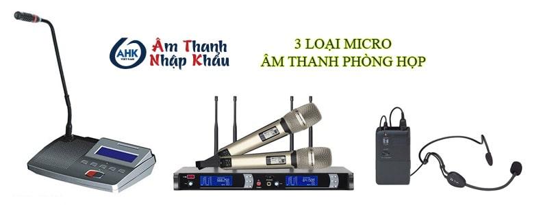 3 loại micro cho âm thanh phòng họp