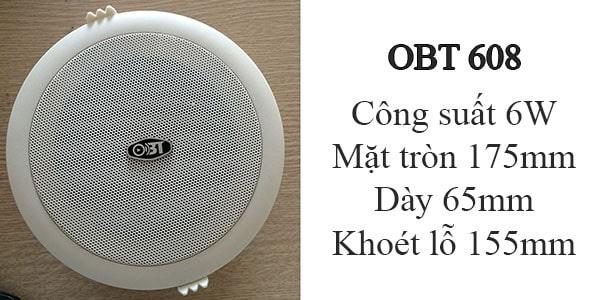 Loa âm trần OBT 608