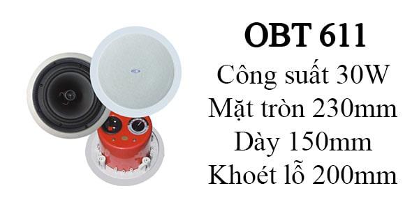 Loa âm trần OBT 611