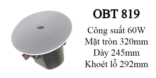 Loa âm trần OBT 819